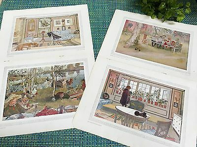 1901 Swedish artist Carl Larsson VINTAGE PRINT LOT FROM MAGAZINE TWO SIDED