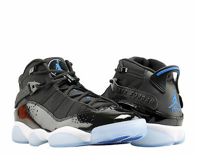 30e3f20334e4 Nike Air Jordan 6 Rings BlackHyper Royal-White Men Basketball Shoes 322992-   Jordan 6 Rings VI Space Jam ...