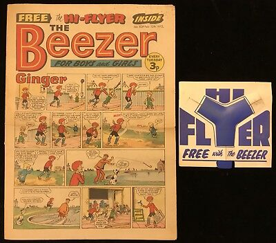 The Beezer #839 12th February 1972 Complete With Free Gift Hi-Flyer - DC Thomson