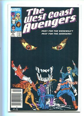 West Coast Avengers #5 Hi Grade 9.0 Great Black Cover Canadian Price Variant