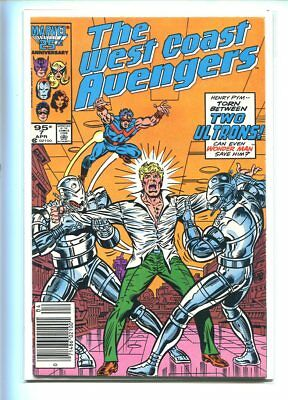 West Coast Avengers #7 Hi Grade 9.0 Ultron Issue Canadian Price Variant