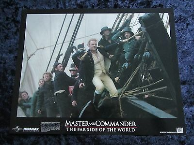 MASTER AND COMMANDER lobby card #5 RUSSELL CROWE
