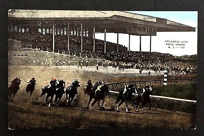 1940's Atlantic City Racetrack Mays Landing New Jersey Vintage Postcard