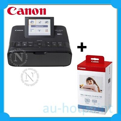 Canon SELPHY CP1300-BK Wireless Compact Photo Printer+KP108IN Ink Bundle Pack