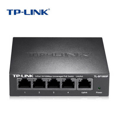 TP-Link TL-SF1005P 5 Post Fast PoE power supply switch 4 port network monitoring