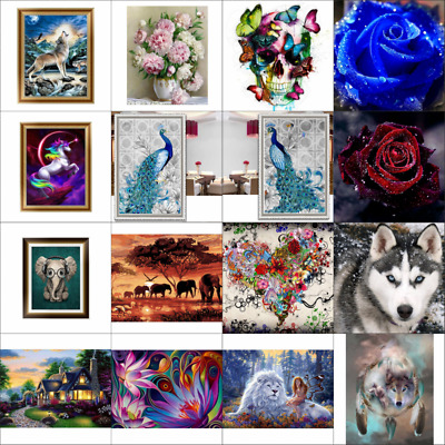 AU 5D Diamond Embroidery Painting DIY Art Stitch Craft Kit Cross Home Wall Decor