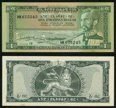 No Date Currency 1966 Ethiopia One Dollar Banknote Emperor Haile Selassie P#25a