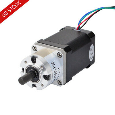 US Ship Nema 17 Geared Stepper Motor 2.1A with 5:1 Planetary Gearbox 3D Printer