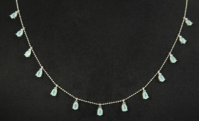 AAA Quality Blue Topaz & 925 Sterling Silver Drop Pendant - Necklace