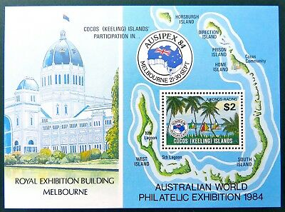 1984 Cocos Keeling Island Stamps - Ausipex 84 Stamp Exhibition - Mini Sheet MNH