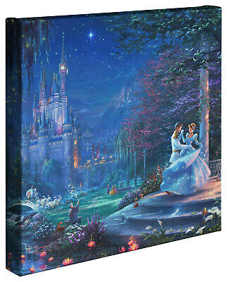 Thomas Kinkade Studios Disney Cinderella Dancing in the Starlight 14 x 14 Wrap