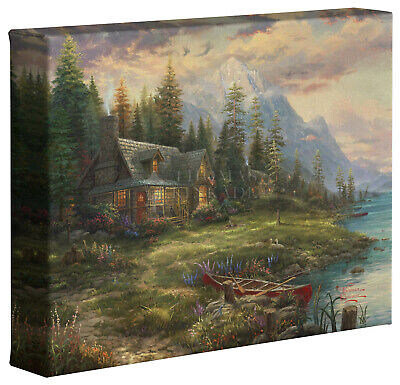 Thomas Kinkade Studios A Father's Perfect Day 8 x 10 Gallery Wrapped Canvas