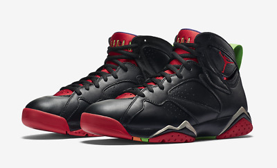best service b2666 9d7a3 Air Jordan 7 Retro Marvin The Martian Size 4-9 Black Red Green Grey 304775