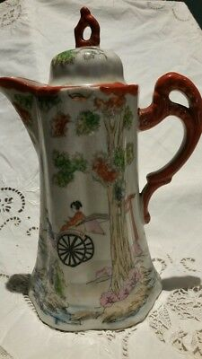 Antique Chinese Export Famille Hand Painted China Teapot
