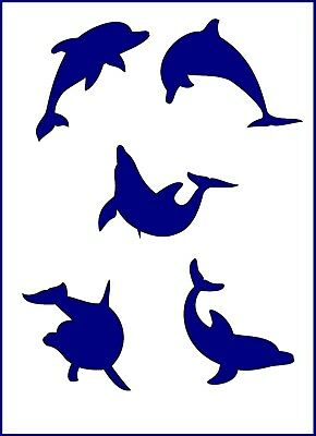 Flexible Stencil *DOLPHINS* Small Medium or Large Card Making Crafts Painting