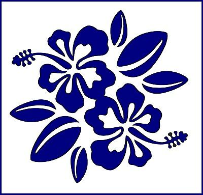 Flexible Stencil *HIBISCUS FLOWERS* Small or Medium Card Making Crafts Tropical