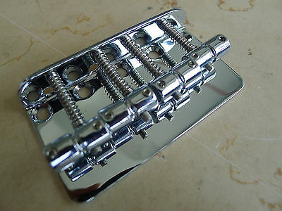 Standard Style 4-String Bridge For top load Fender P/Jazz Bass Chrome(No Screws)