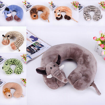 Soft Travel U-Shape Neck Pillow Support Head Rest Car Travel Sleep Cushion
