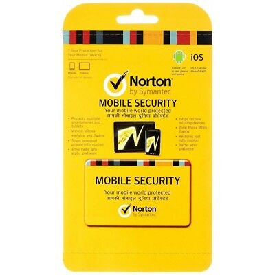 Norton Mobile Security 1 yr anti virus for   Android & Apple Mobile devices