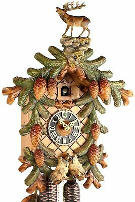 Hönes -waldszene 45cm- 883/4BU Cuckoo Clock Original Black Forest Real