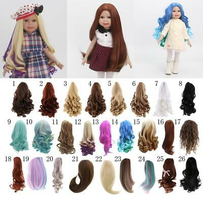 "MagiDeal Curly/Straight Hair Wig for 18"" American Girl Doll DIY Making Accessory"