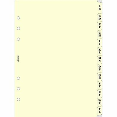 Filofax Refill Insert A-Z Index A5 Cream Ref 341664