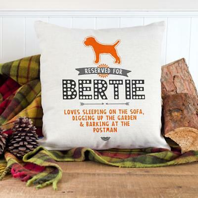 Border Terrier Cushion Cover Personalised Dog Christmas Pillow Name Puppy RD09