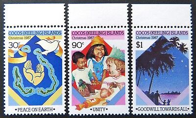 1987 Cocos Keeling Island Stamps - Christmas - Set of 3 - Tabs MNH