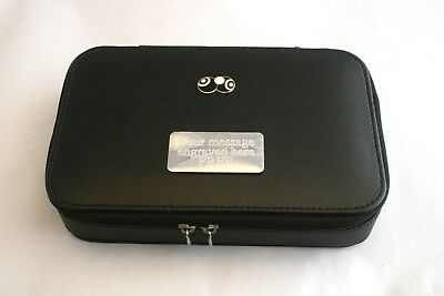 Bowls & Jack black enamel Jewellery Cufflink Box Watch FREE ENGRAVING 040