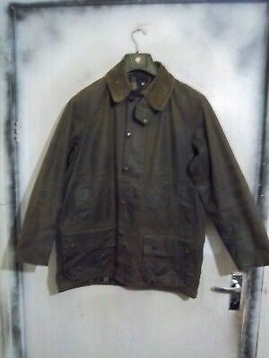 Barbour Moorland Waxed Jacket Size C40 102Cm