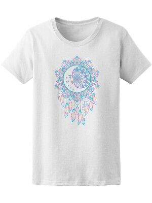 Hand Drawn Crescent Moon Gems Women's Tee -Image by Shutterstock