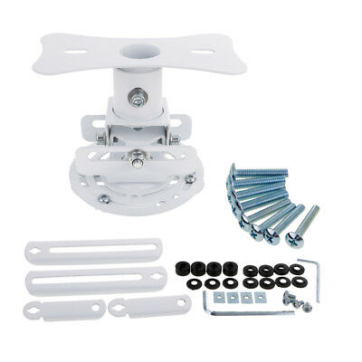 Universal Adjustable Ceiling Projector Theater Mount White | Extending Arms