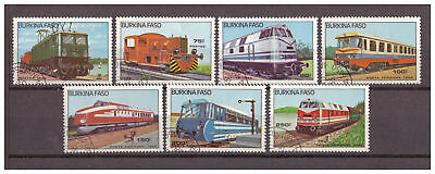 Burkina Faso, Lokomotiven MiNr. 1043 - 1049, 1999 used