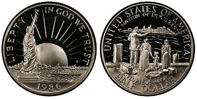1986 Statue of Liberty Proof Half Dollar Commemorative Coin