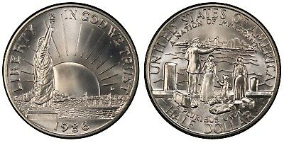 1986 Statue of Liberty Mint State Half Dollar Commemorative Coin