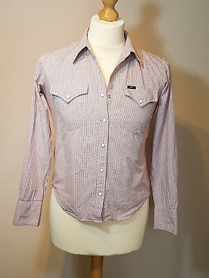 Ladies Lee Red&White Check Western Shirt - Size XS **Western/Cowboy/Rockabilly**
