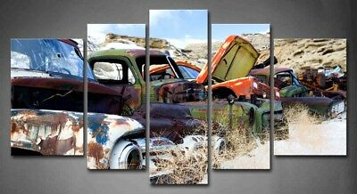 Framed Wall Art Vintage Cars Painting Canvas Print The Old Classic Car Picture