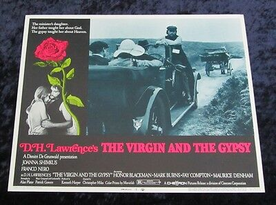 The Virgin and the Gypsy lobby card # 7 Franco Nero, D.H. Lawrence