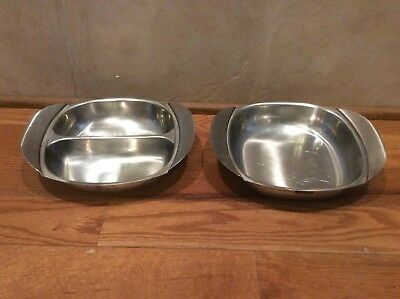 Vintage Stainless Steel Divided Serving Dish Frasers Made In Sweden