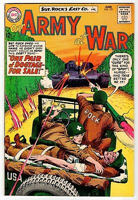 DC - OUR ARMY AT WAR #131 - Kubert Cover & Art - VG/FN June 1963 Vintage Comic