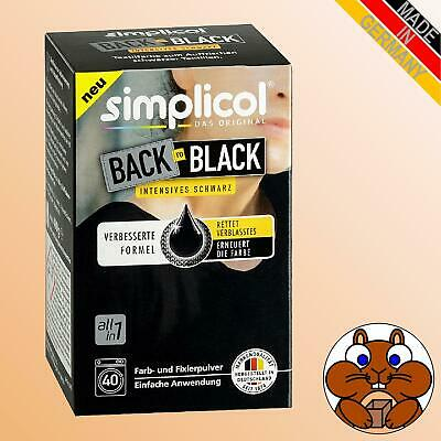simplicol BACK TO BLACK Textilfarbe intensives schwarz 400g Farbe & Fixierer