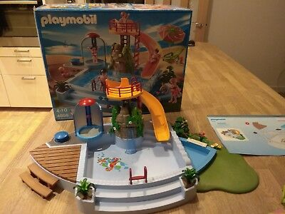 Playmobil Swimming Pool With Water Slide 4858. Box + Instructions.