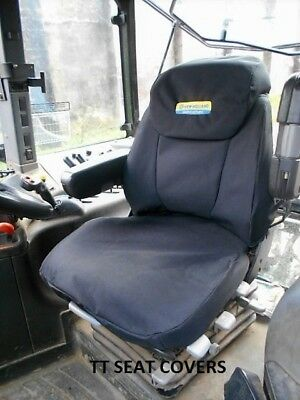 new holland /case/cnh /tm /t7070  Sears air seat cover / black with logo
