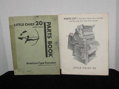 Parts Book for Little Chief 20 Offset Press  , American Type Founders  ATF
