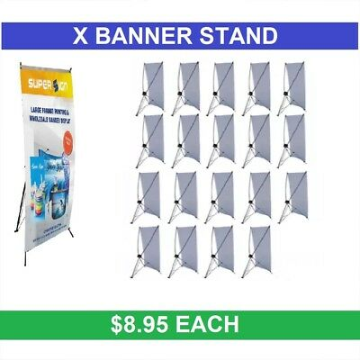"20 PCS X BANNER STAND 24"" x 63"" WITH FREE BAG WHOLESALE PRICE"