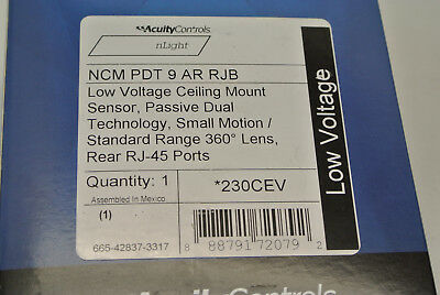 NEW!! Acuity Controls NCM PDT 9 AR RJB nLight Ceiling Sensor RJ-45 Ports 230CEV