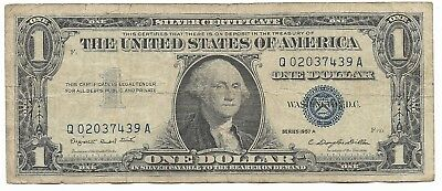 US Rare Very Old WWII War Dollar WW2 USA Silver Certificate Note Collection 109