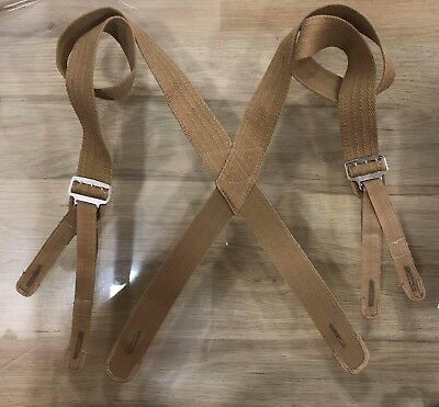 M1887 Khaki Trouser Suspenders - Max Length 44""