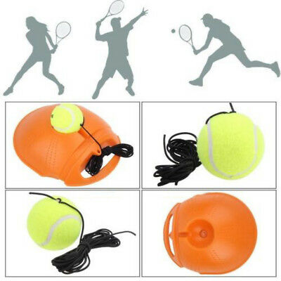 Singles Tennis Trainer Training Practice Exercise Balls Back Base Tools + Tennis