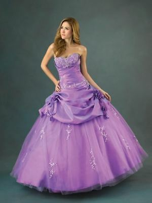 LIGHT PURPLE LILAC Stock tulle Wedding dress Bridal gown Size 6 8 10 ...